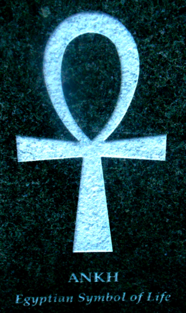 An Ankh is engraved into marble in New York New York.