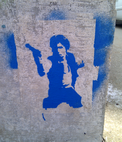 Han solo graffiti near Folinger Auditorium
